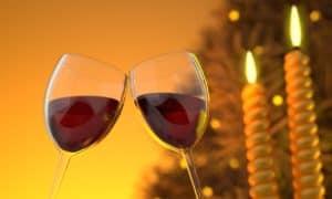 כוסות עם יין