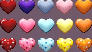 מדבקות בצורת לב