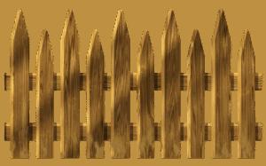 גדר מעץ מלא